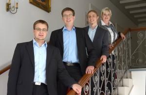 Beraterteam der avalia Existenzgründungsberatung: Christoph, Thomas, Roland, Conny