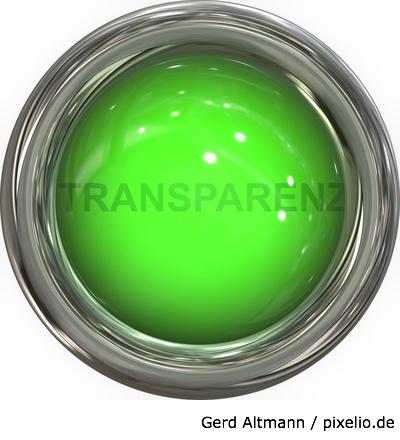 Öffentlichkeitsarbeit erfordert Transparenz