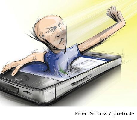 Social Media - der ständige Wegbegleiter des Konsumenten. Foto: Peter Derrfuss / pixelio.de