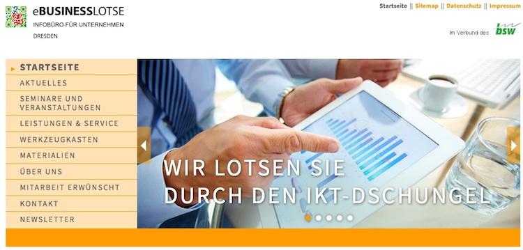 Vortrag Fördermittel für KMU im Rahmen der eBusiness-Lotse Dresden