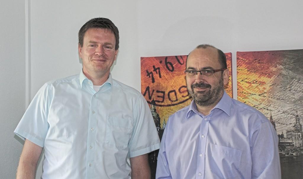 Sven Knabe und Kirk Sievert vom ACI EDV-Systemhaus aus Dresden