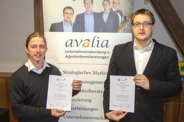 """Roland Nette und Christoph Schulz der avalia GmbH & Co. KG sind zugelassene Berater der Bundesinititative """"Offensive Mittelstand"""""""