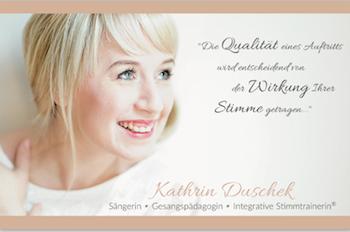 Gesang- und Stimmtrainerin Kathrin Duschek