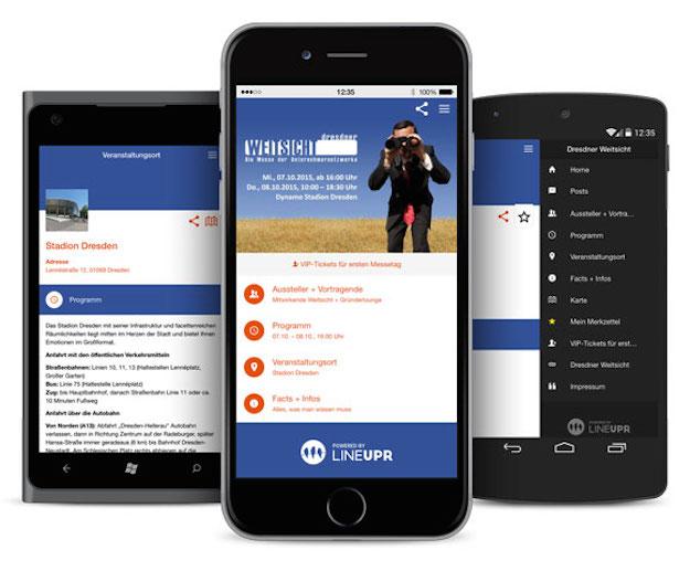 Lineupr-App für die Dresdner WEITSICHT