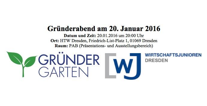 Gründerabend WJ und Gründergarten Dresden
