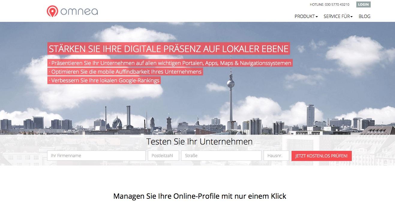 omnea Online-Profil-Management