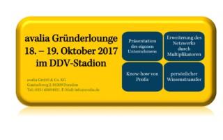 avalia Gründerlounge am 18. und 19. Oktober 2017