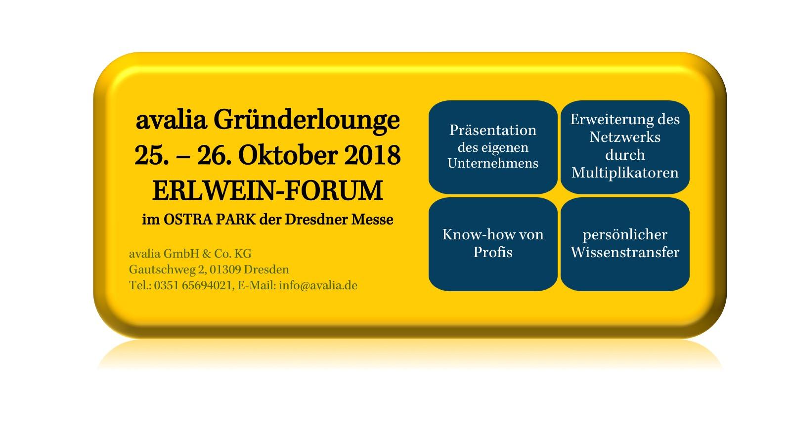 Gründerlounge Messe auf der Dresdner Weitsicht 2018